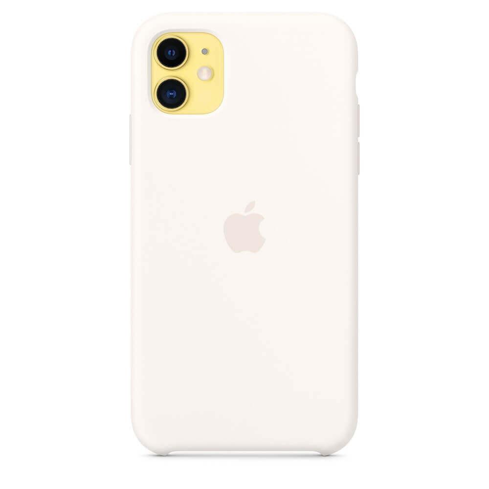 Apple Silicone Case — оригинален силиконов кейс за iPhone 11 (бял) - 5