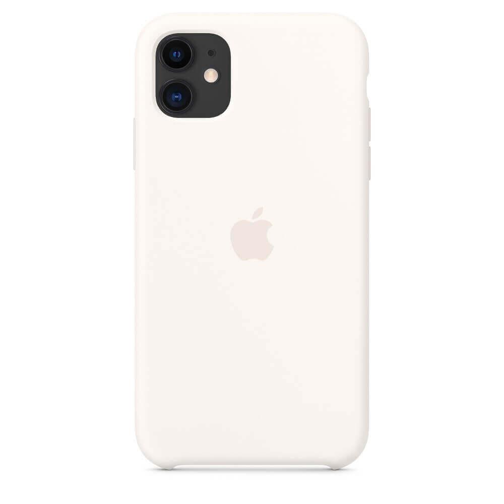 Apple Silicone Case — оригинален силиконов кейс за iPhone 11 (бял) - 2