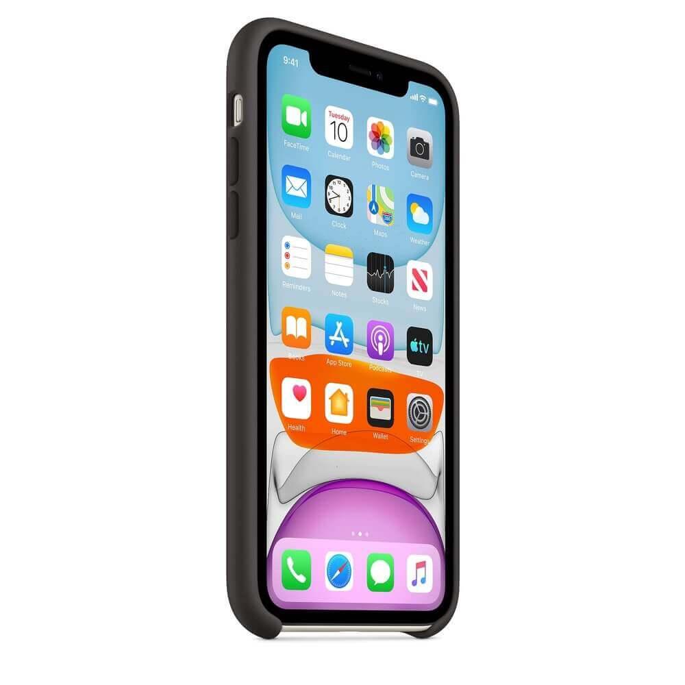 Apple Silicone Case — оригинален силиконов кейс за iPhone 11 (черен) - 4