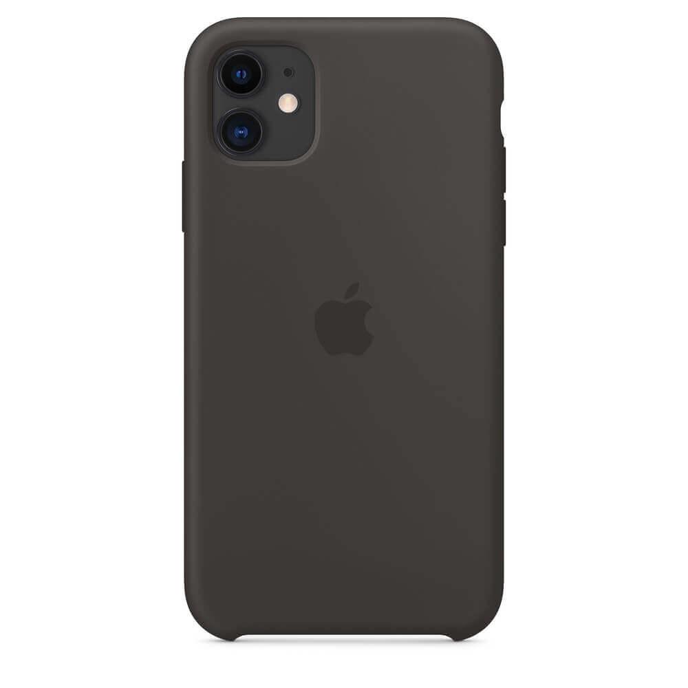 Apple Silicone Case — оригинален силиконов кейс за iPhone 11 (черен) - 2