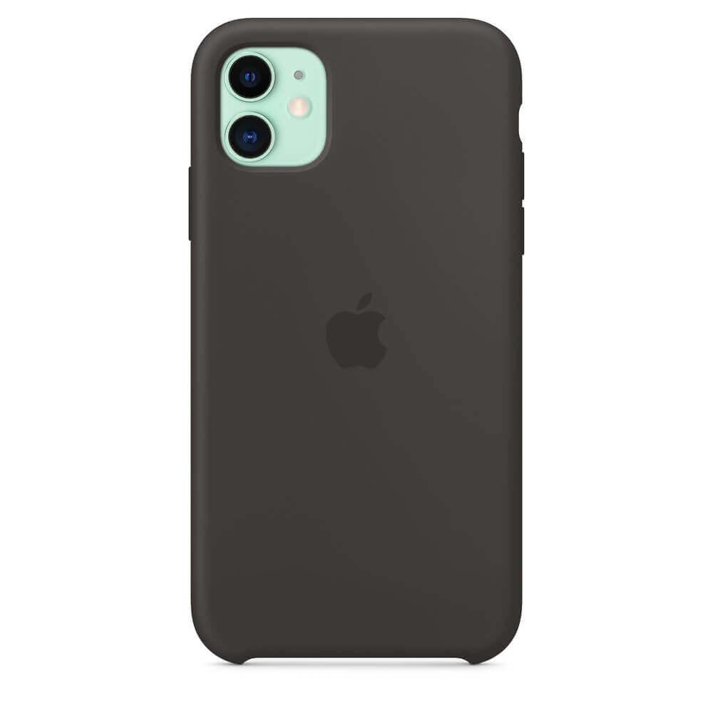 Apple Silicone Case — оригинален силиконов кейс за iPhone 11 (черен) - 3