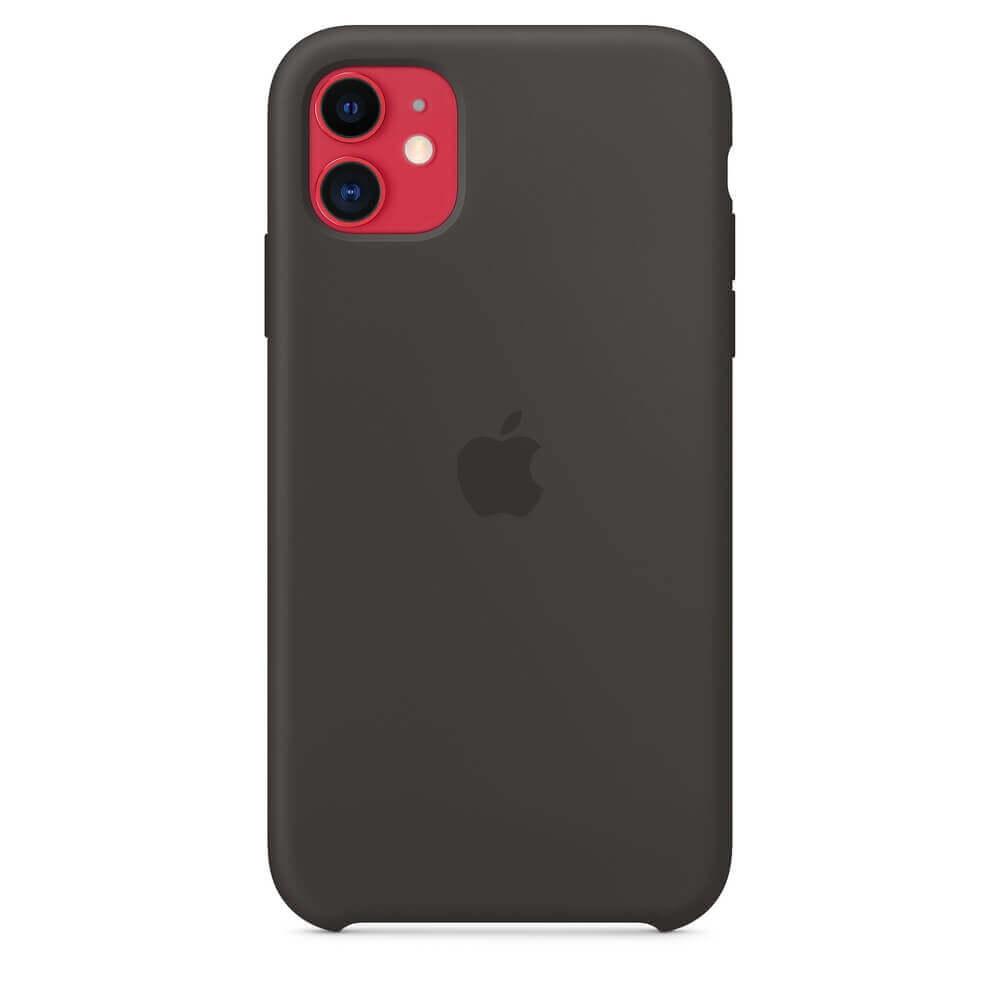 Apple Silicone Case — оригинален силиконов кейс за iPhone 11 (черен) - 5