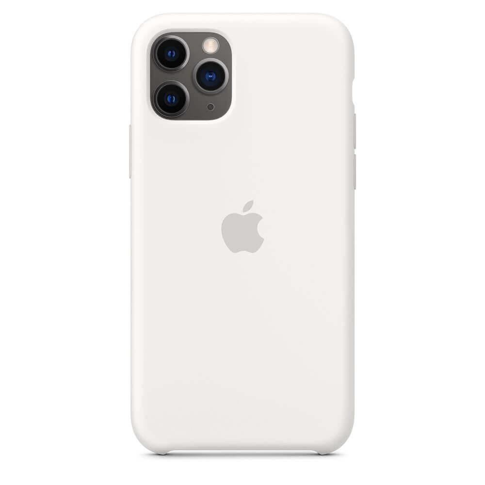 Apple Silicone Case — оригинален силиконов кейс за iPhone 11 Pro (бял) - 4