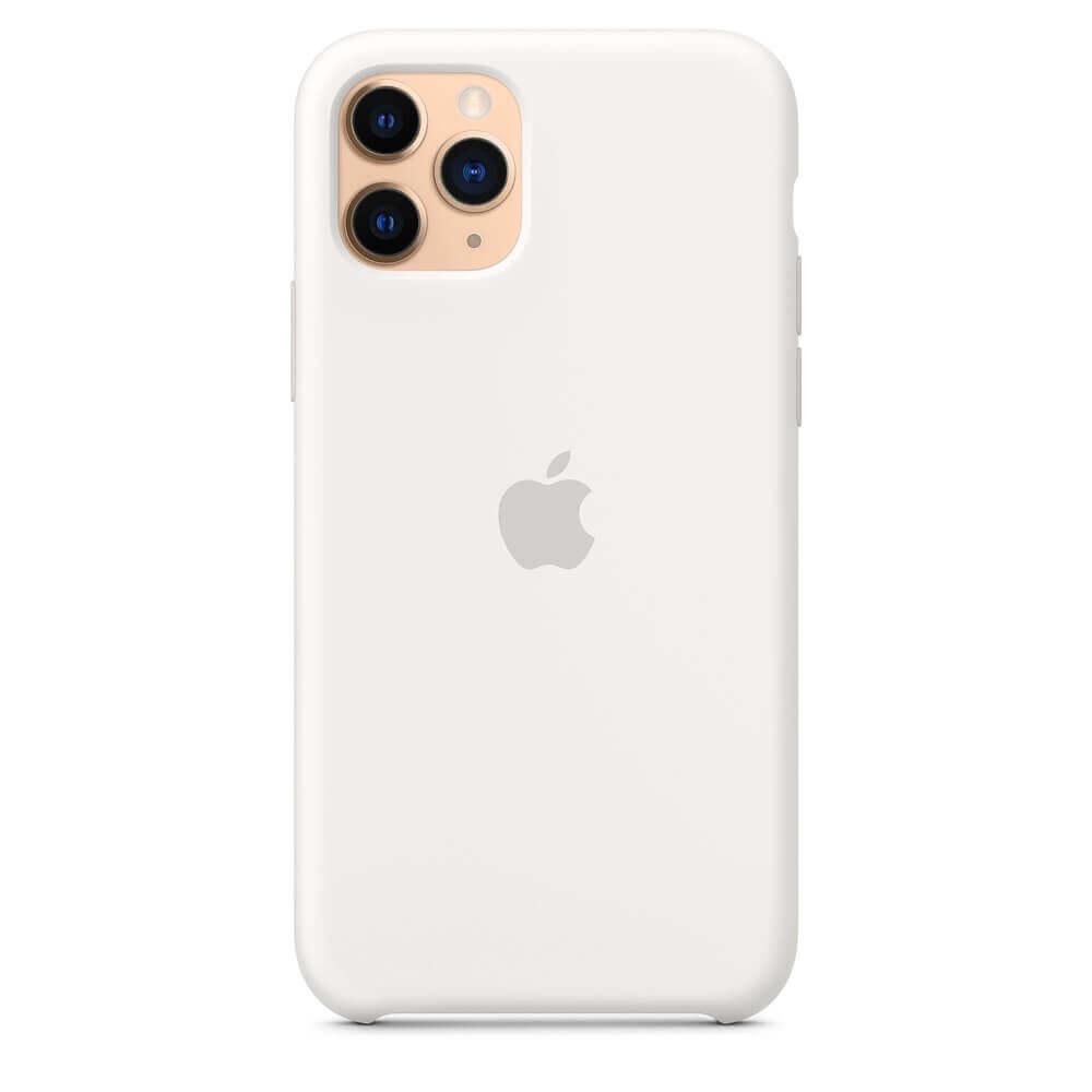 Apple Silicone Case — оригинален силиконов кейс за iPhone 11 Pro (бял) - 5