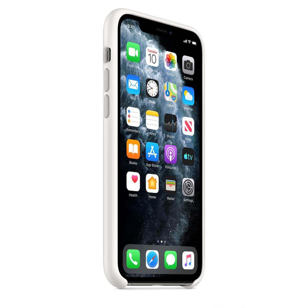 Apple Silicone Case — оригинален силиконов кейс за iPhone 11 Pro (бял) - 3