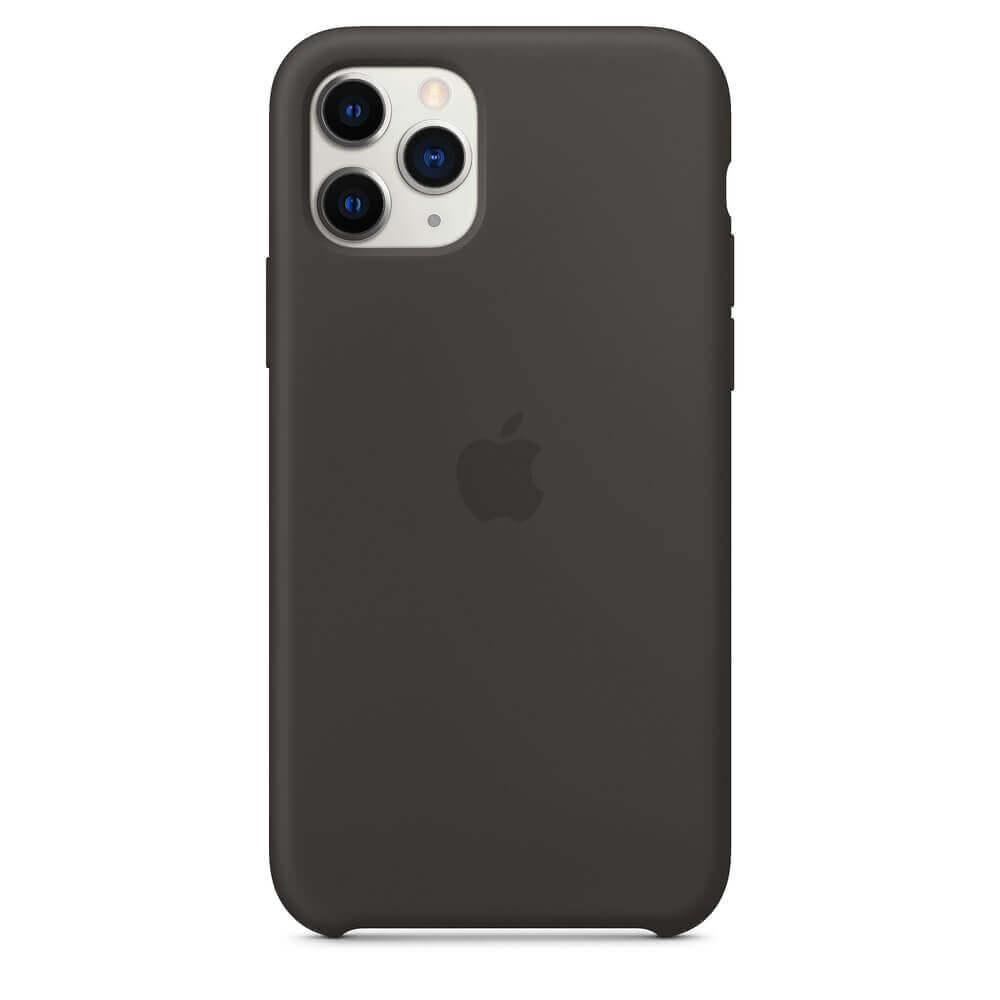 Apple Silicone Case — оригинален силиконов кейс за iPhone 11 Pro (черен) - 2