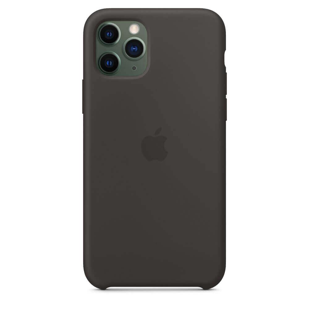 Apple Silicone Case — оригинален силиконов кейс за iPhone 11 Pro (черен) - 3