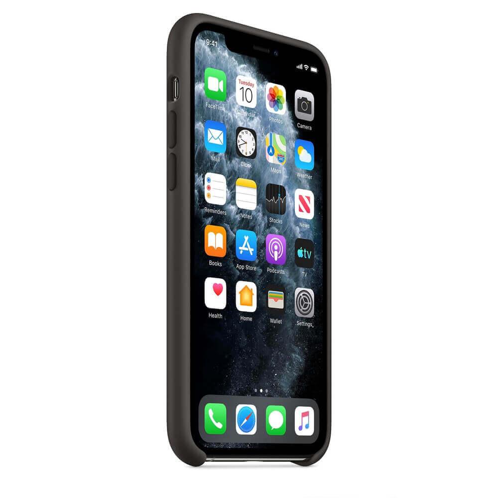 Apple Silicone Case — оригинален силиконов кейс за iPhone 11 Pro (черен) - 5