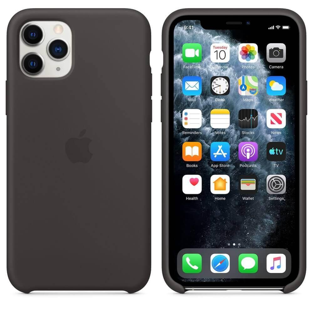 Apple Silicone Case — оригинален силиконов кейс за iPhone 11 Pro (черен) - 1