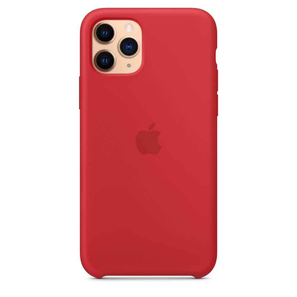 Apple Silicone Case — оригинален силиконов кейс за iPhone 11 Pro (червен) - 4