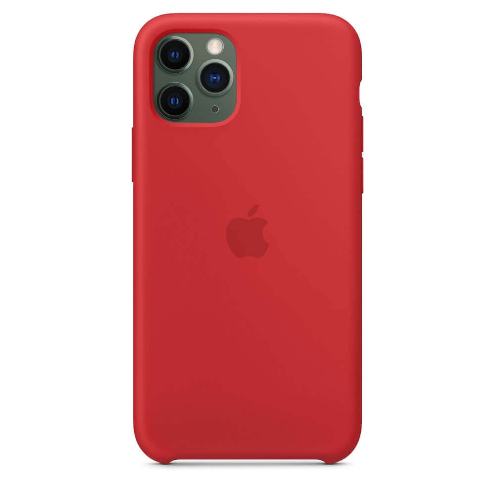 Apple Silicone Case — оригинален силиконов кейс за iPhone 11 Pro (червен) - 2