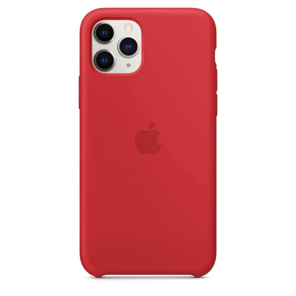 Apple Silicone Case — оригинален силиконов кейс за iPhone 11 Pro (червен) - 3