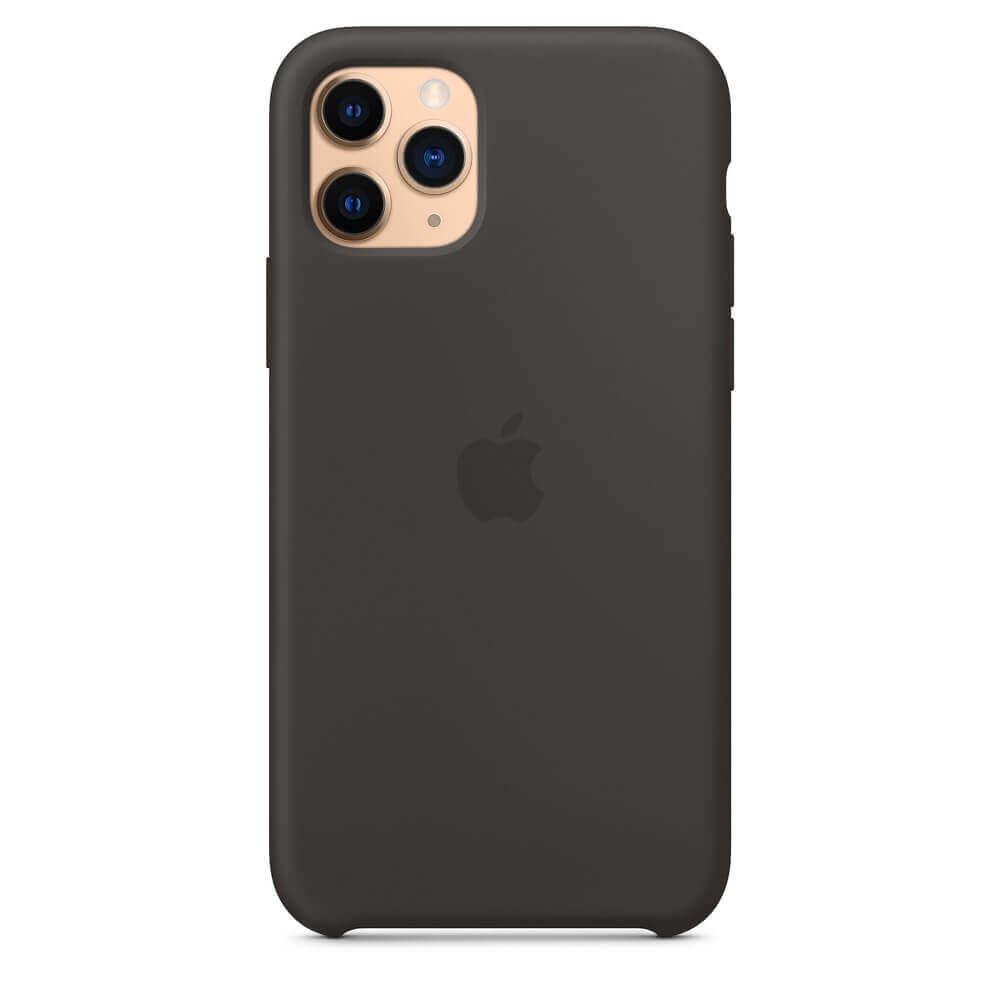 Apple Silicone Case — оригинален силиконов кейс за iPhone 11 Pro Max (черен) - 3