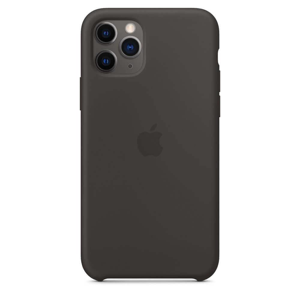 Apple Silicone Case — оригинален силиконов кейс за iPhone 11 Pro Max (черен) - 2