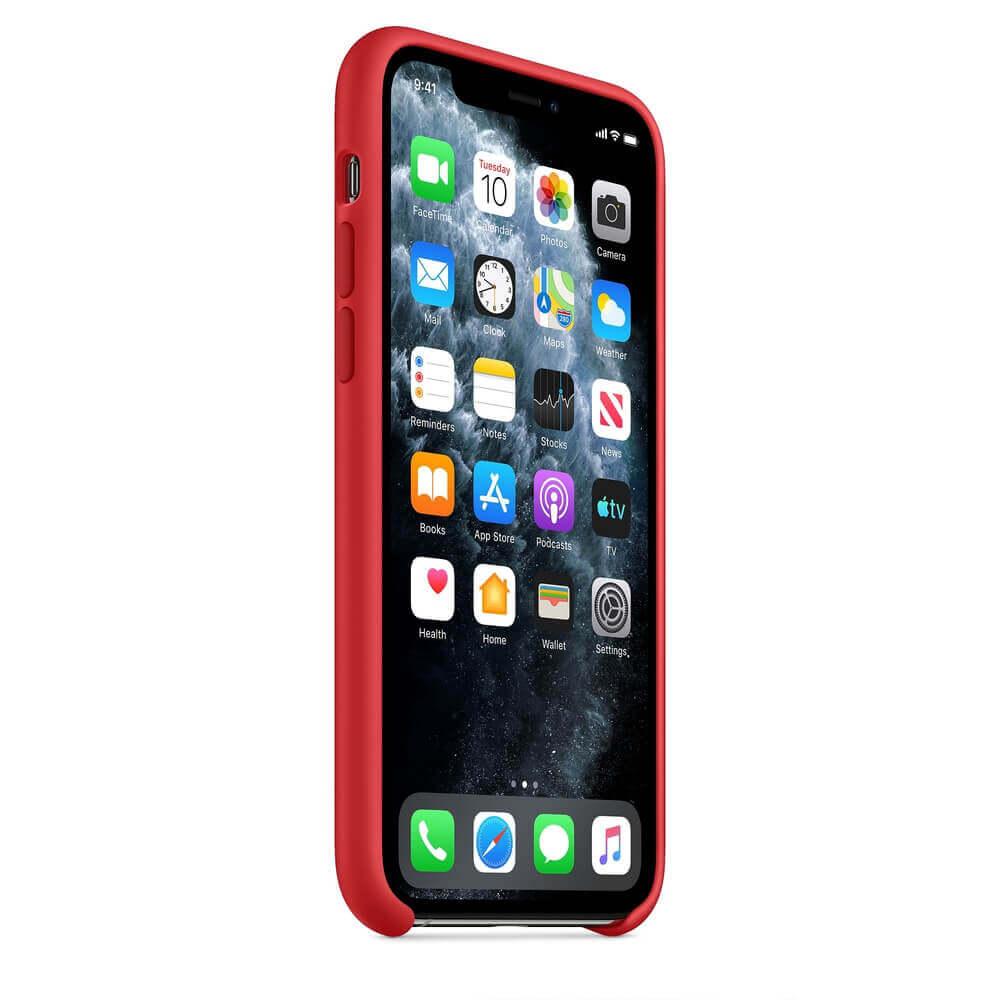 Apple Silicone Case — оригинален силиконов кейс за iPhone 11 Pro Max (червен) - 5