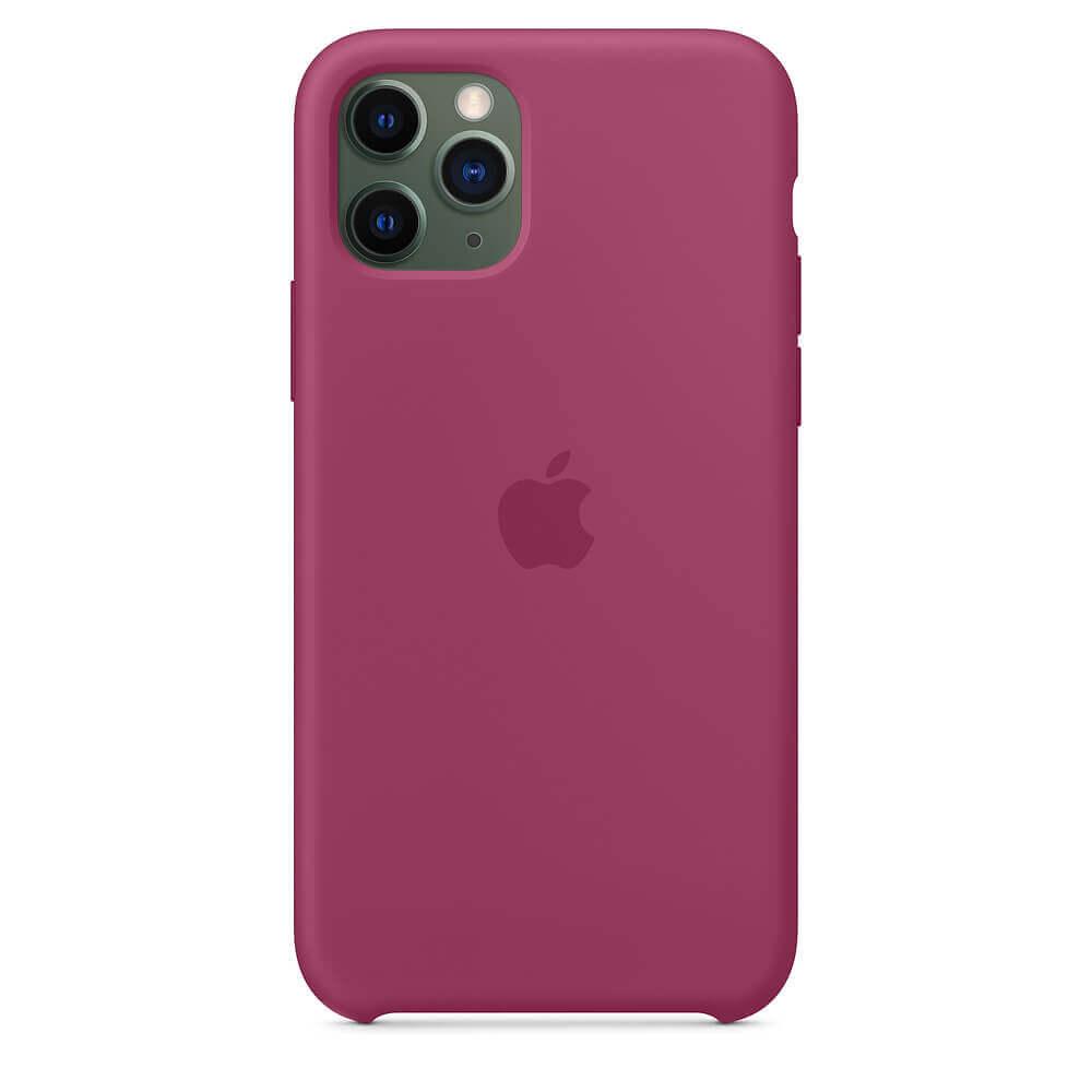 Apple Silicone Case — оригинален силиконов кейс за iPhone 11 Pro Max (светлочервен) - 3