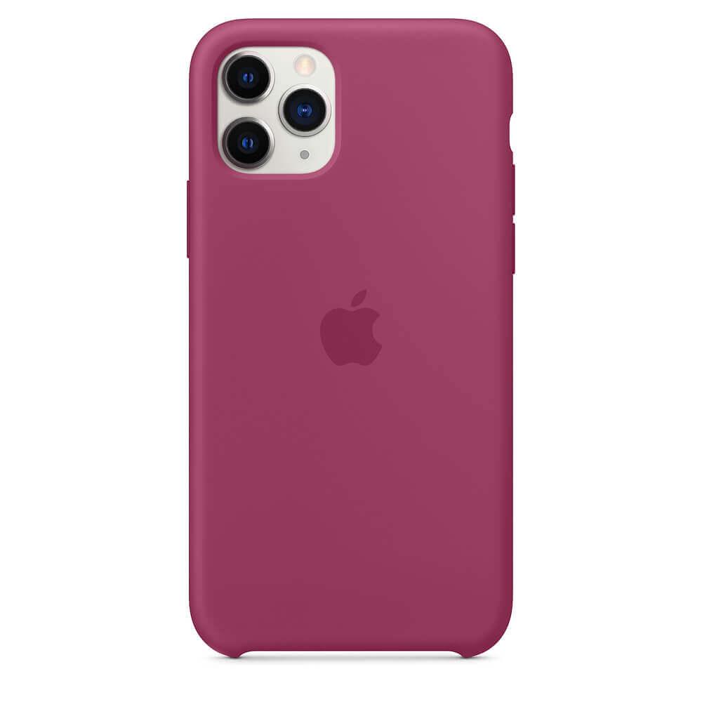 Apple Silicone Case — оригинален силиконов кейс за iPhone 11 Pro Max (светлочервен) - 2