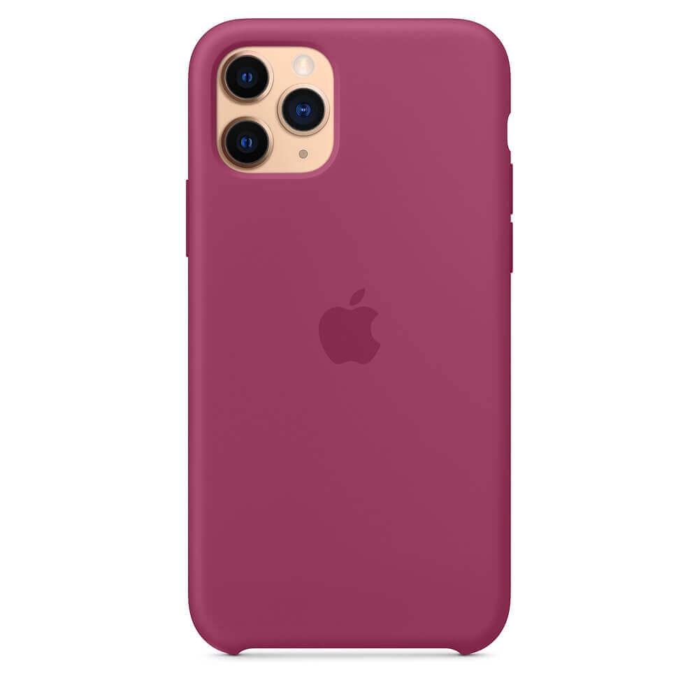 Apple Silicone Case — оригинален силиконов кейс за iPhone 11 Pro Max (светлочервен) - 4