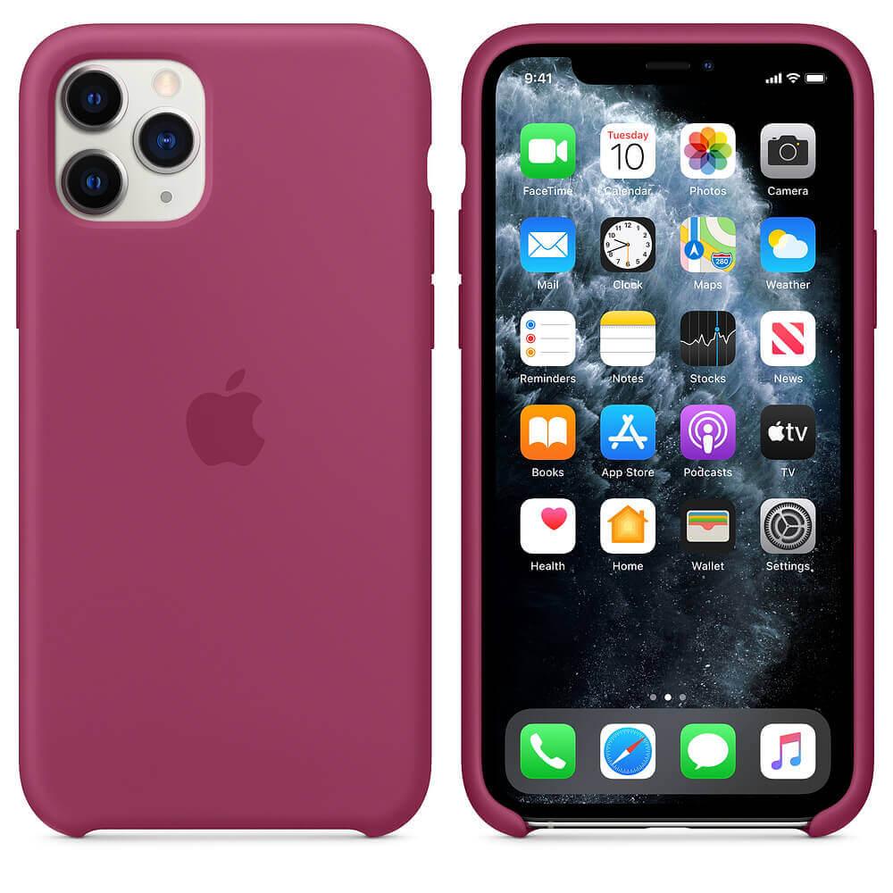 Apple Silicone Case — оригинален силиконов кейс за iPhone 11 Pro Max (светлочервен) - 1