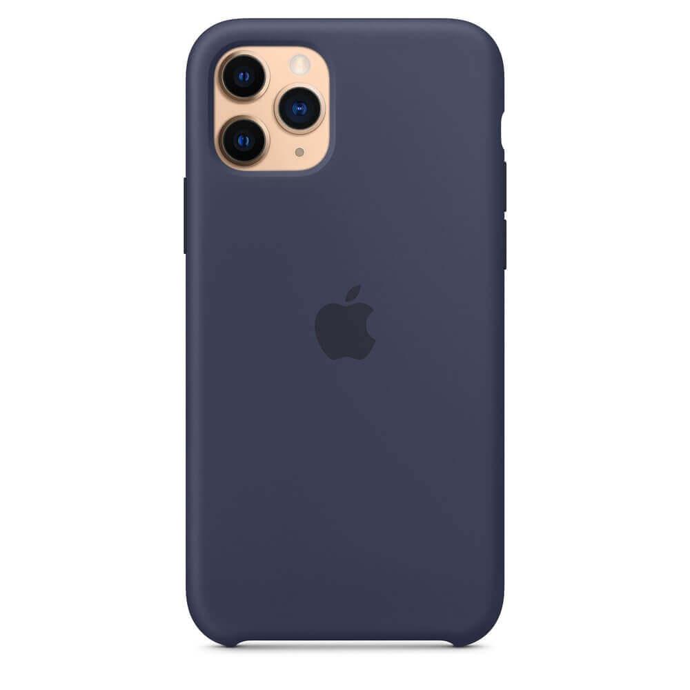 Apple Silicone Case — оригинален силиконов кейс за iPhone 11 Pro Max (тъмносин) - 3