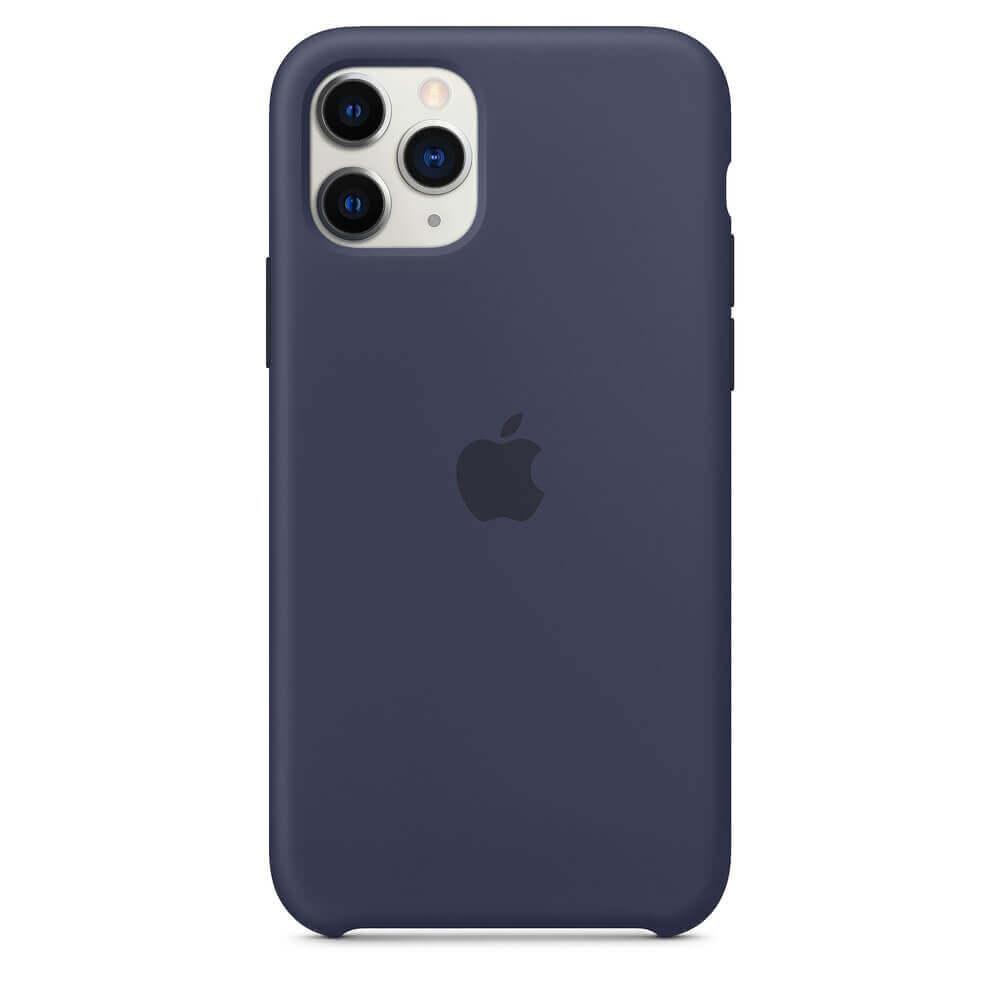 Apple Silicone Case — оригинален силиконов кейс за iPhone 11 Pro Max (тъмносин) - 4