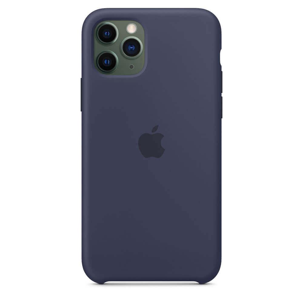 Apple Silicone Case — оригинален силиконов кейс за iPhone 11 Pro Max (тъмносин) - 2