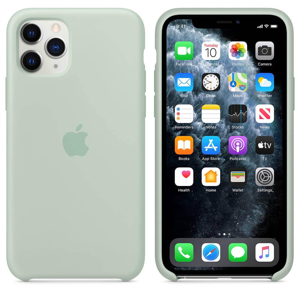 Apple Silicone Case — оригинален силиконов кейс за iPhone 11 Pro Max (зелен) - 1