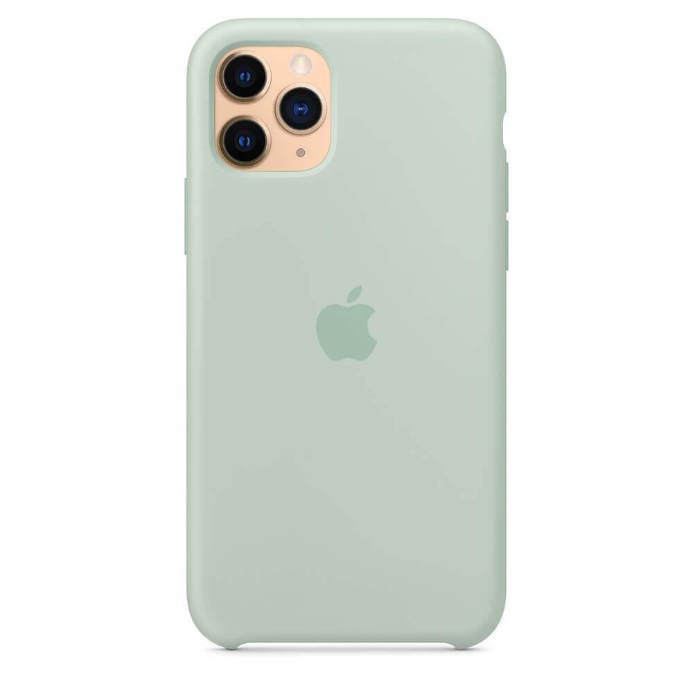Apple Silicone Case — оригинален силиконов кейс за iPhone 11 Pro Max (зелен) - 3