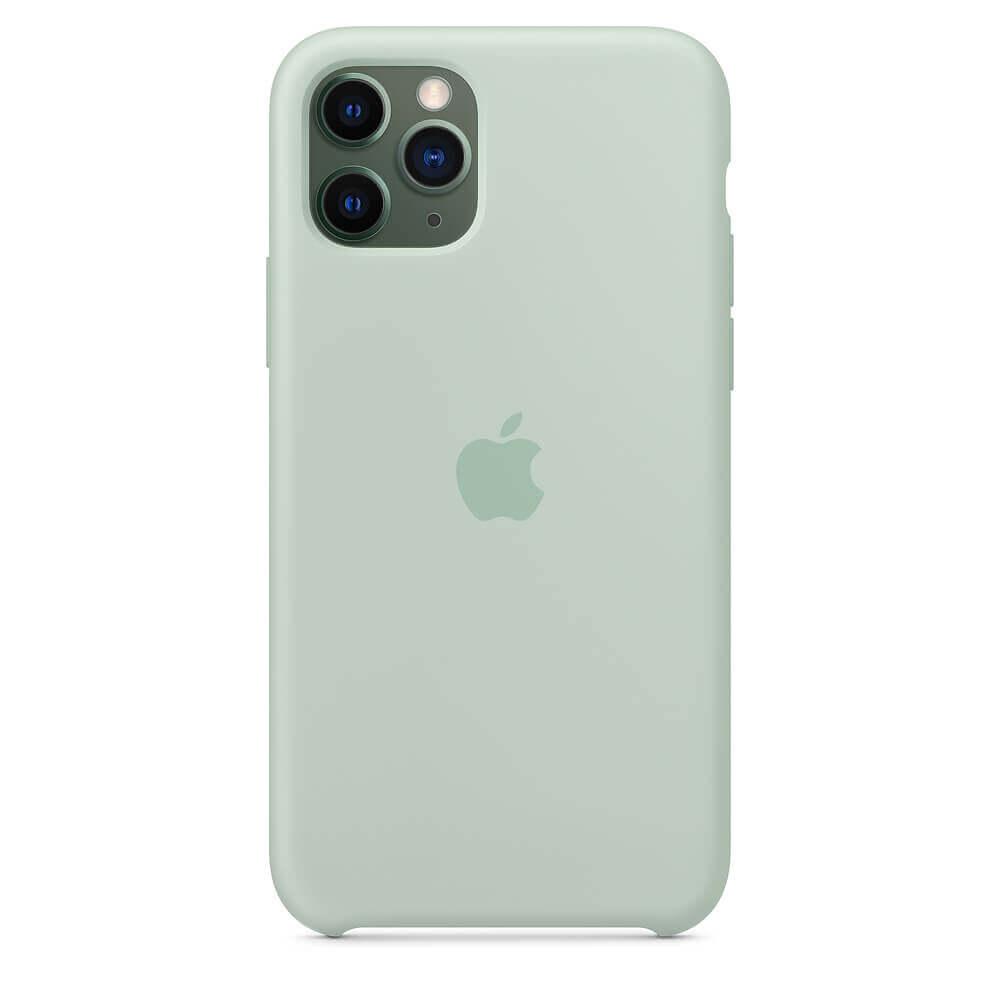 Apple Silicone Case — оригинален силиконов кейс за iPhone 11 Pro Max (зелен) - 4