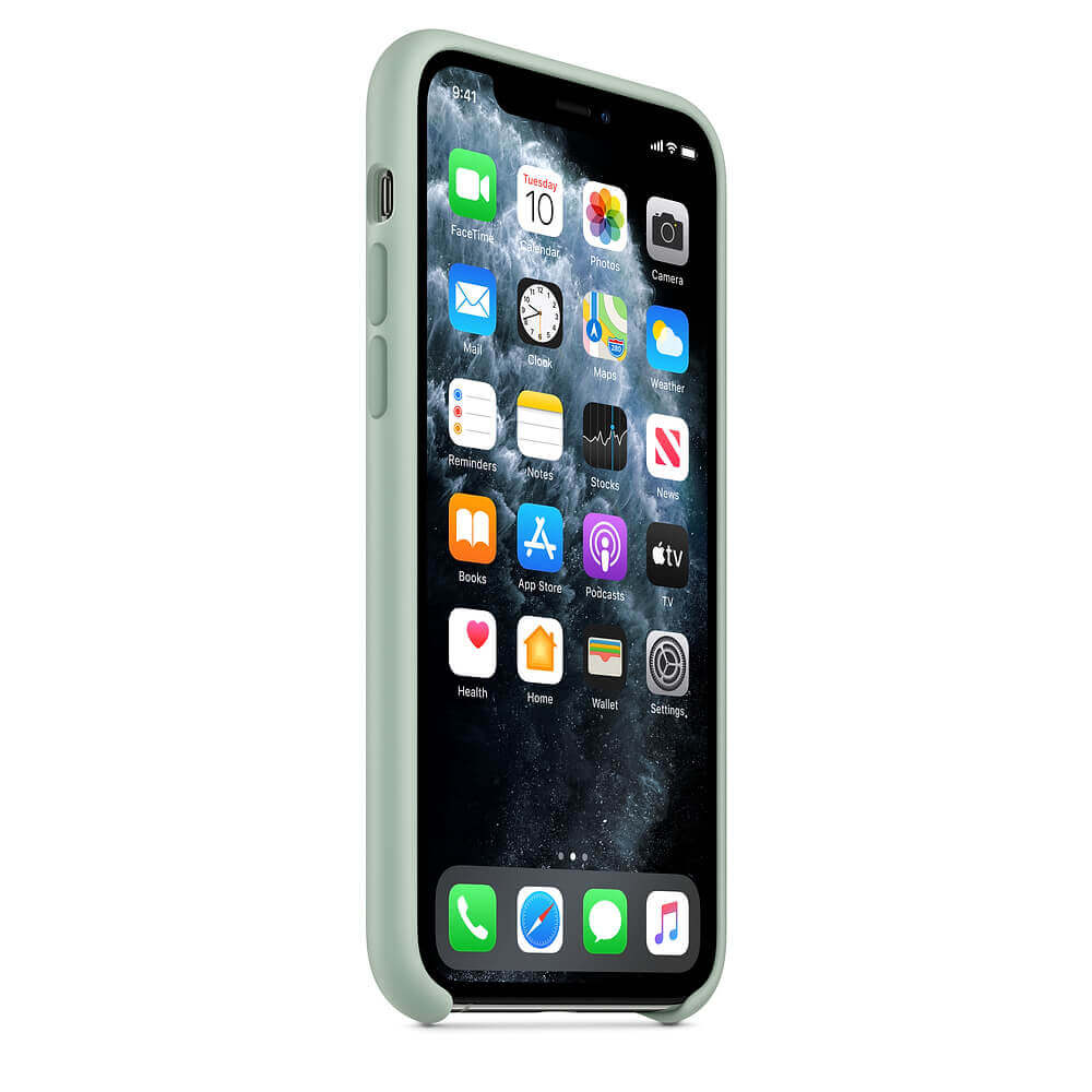 Apple Silicone Case — оригинален силиконов кейс за iPhone 11 Pro Max (зелен) - 2