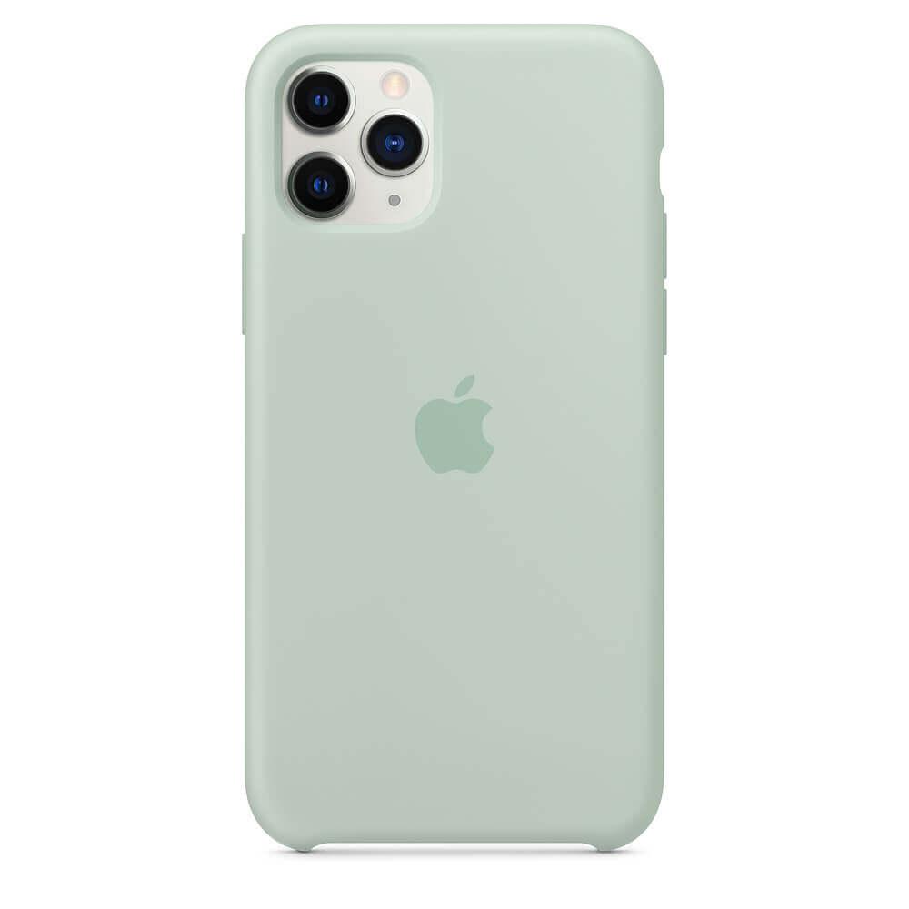 Apple Silicone Case — оригинален силиконов кейс за iPhone 11 Pro Max (зелен) - 5