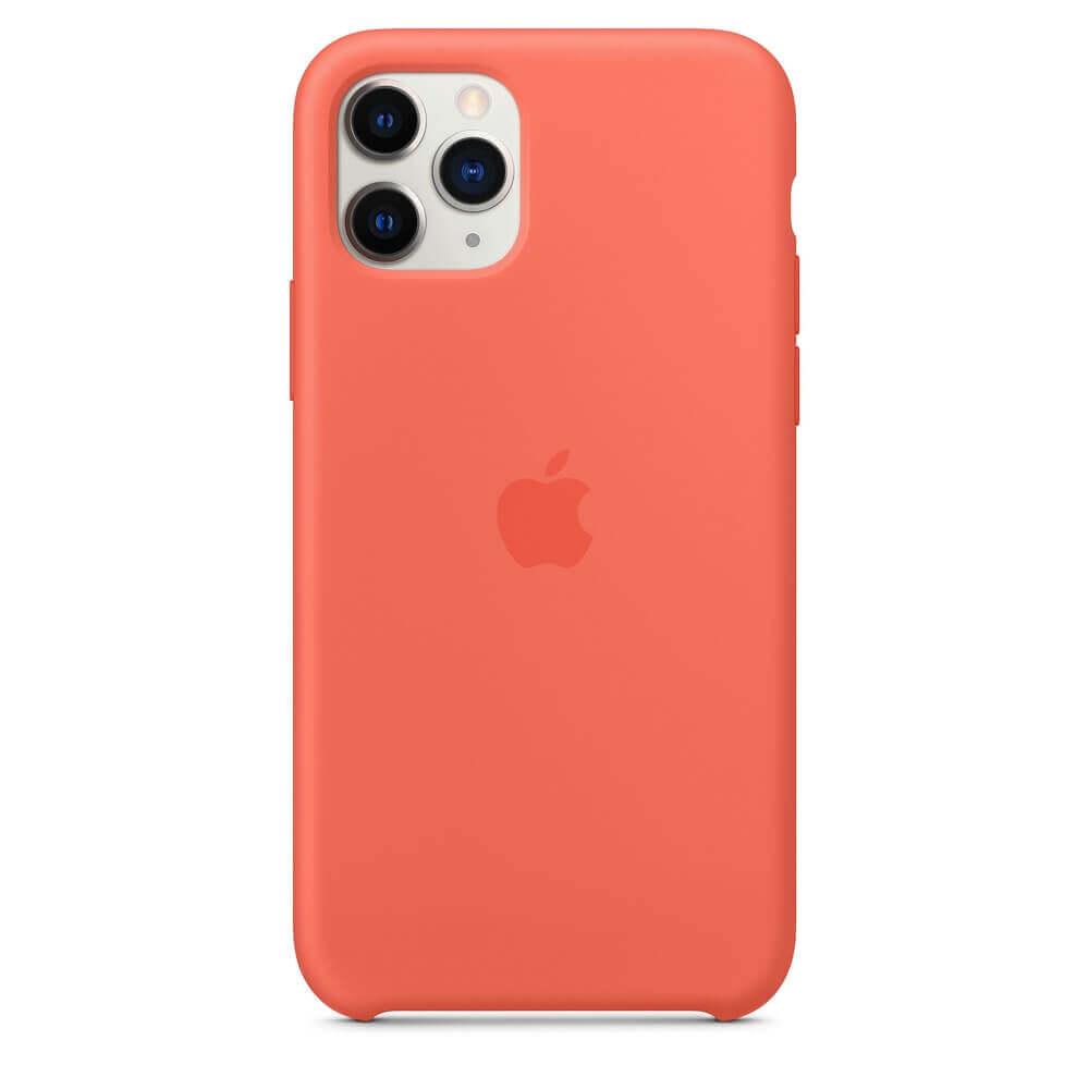 Apple Silicone Case — оригинален силиконов кейс за iPhone 11 Pro (оранжев) - 3