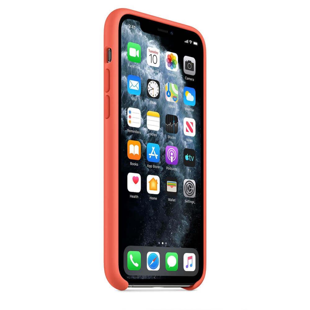 Apple Silicone Case — оригинален силиконов кейс за iPhone 11 Pro (оранжев) - 4