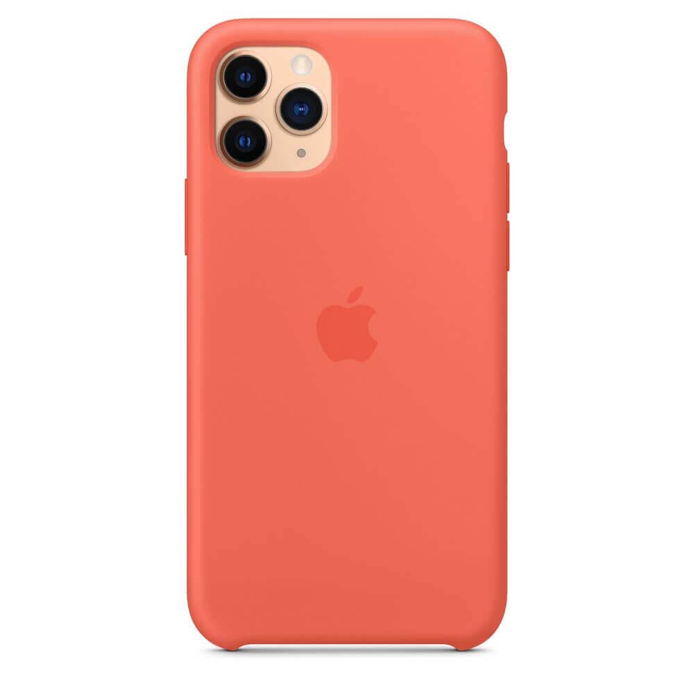 Apple Silicone Case — оригинален силиконов кейс за iPhone 11 Pro (оранжев) - 5