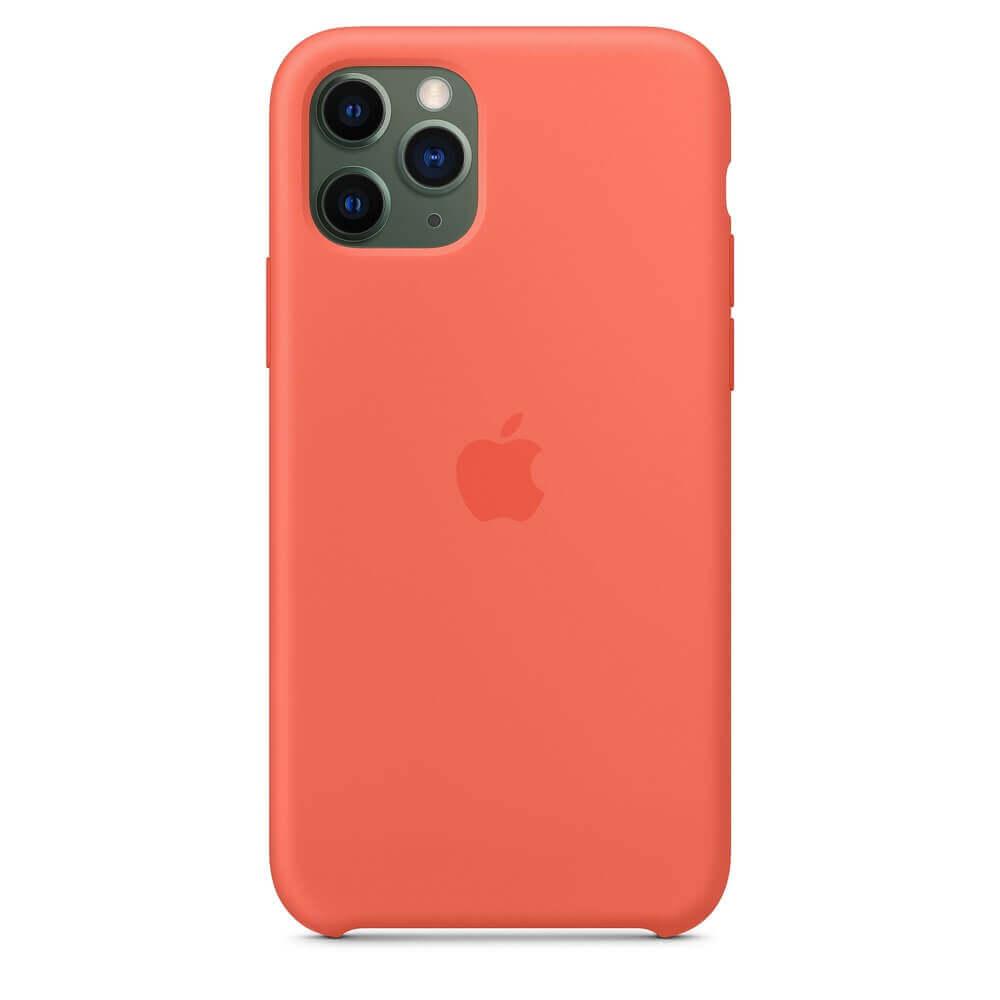 Apple Silicone Case — оригинален силиконов кейс за iPhone 11 Pro (оранжев) - 2