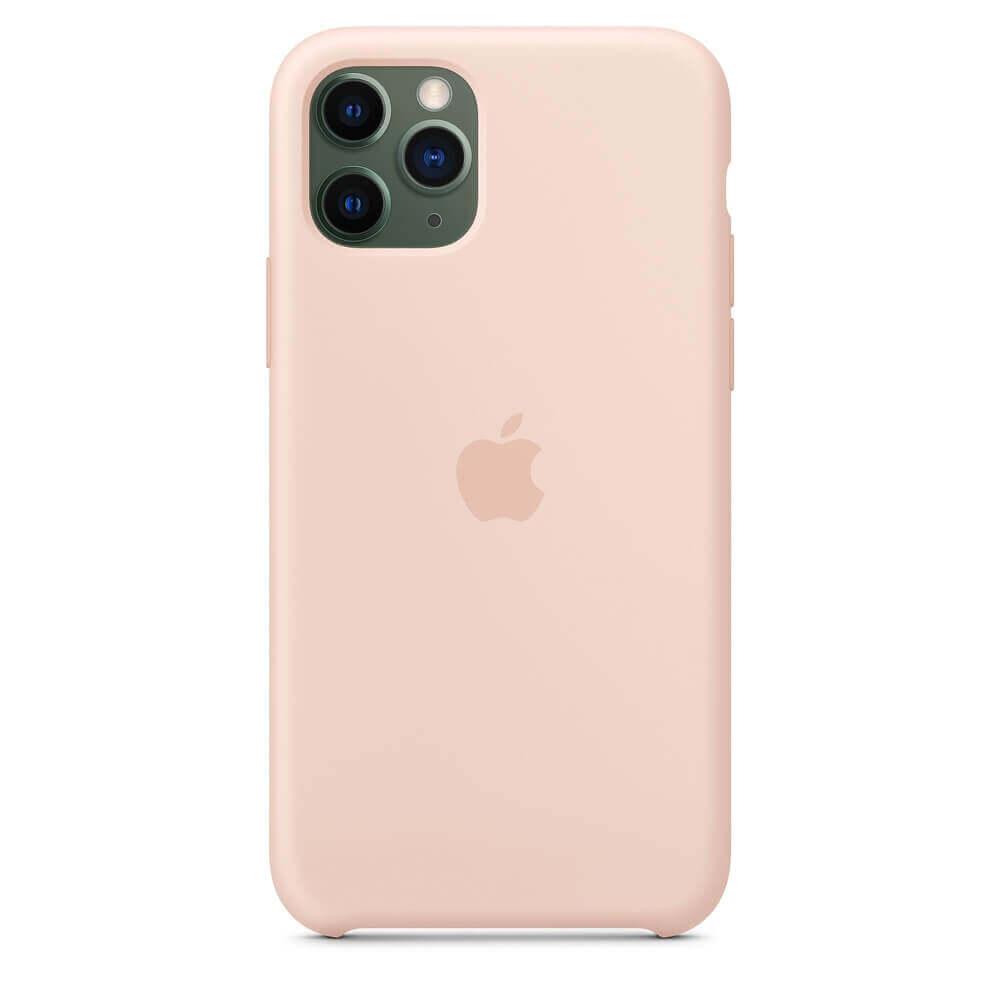 Apple Silicone Case — оригинален силиконов кейс за iPhone 11 Pro (розов пясък) - 3