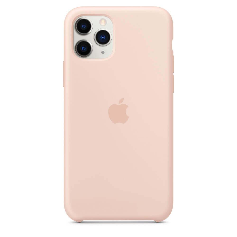 Apple Silicone Case — оригинален силиконов кейс за iPhone 11 Pro (розов пясък) - 4