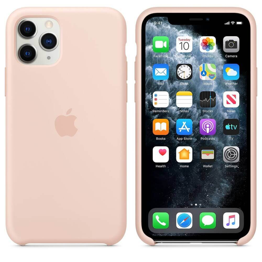 Apple Silicone Case — оригинален силиконов кейс за iPhone 11 Pro (розов пясък) - 1