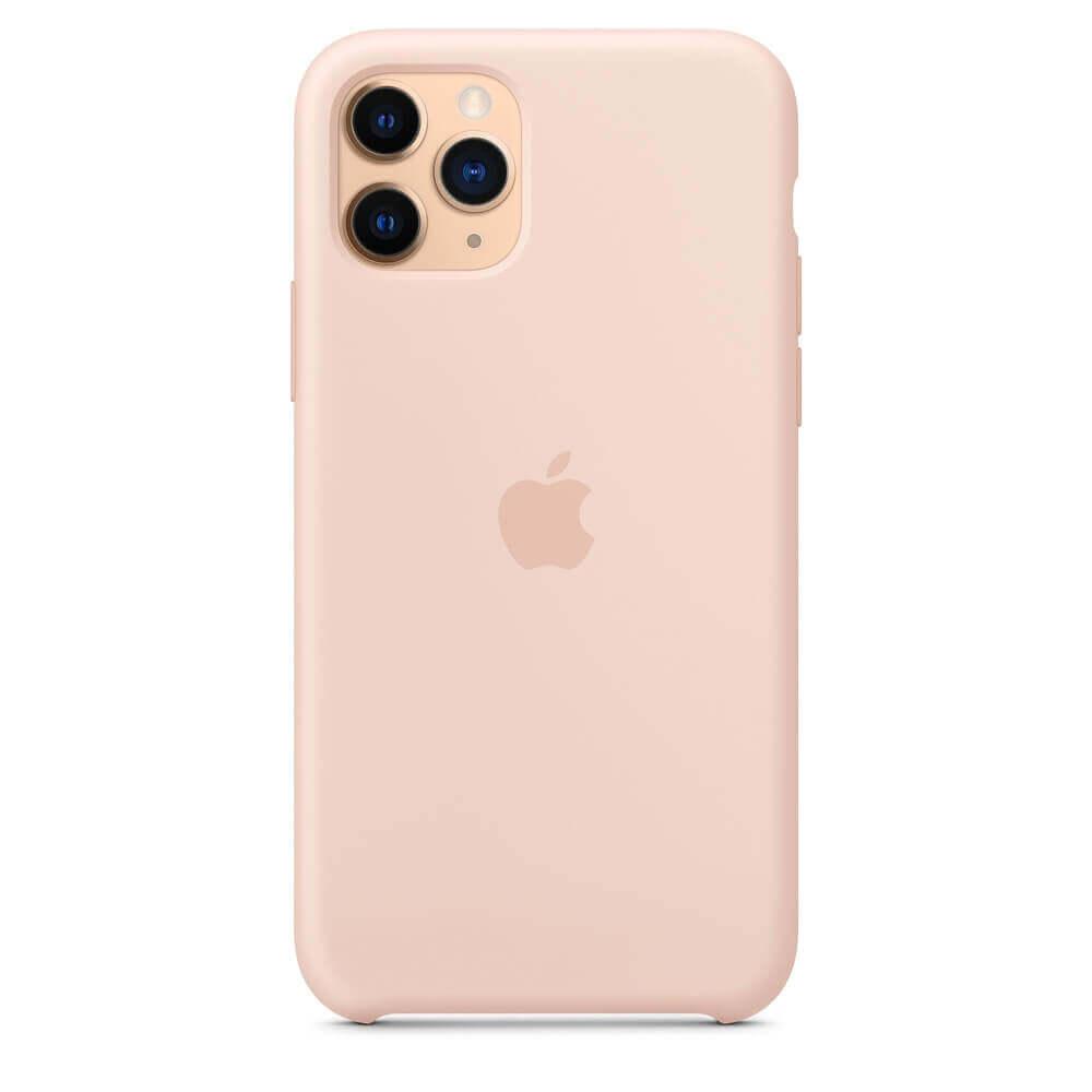 Apple Silicone Case — оригинален силиконов кейс за iPhone 11 Pro (розов пясък) - 2