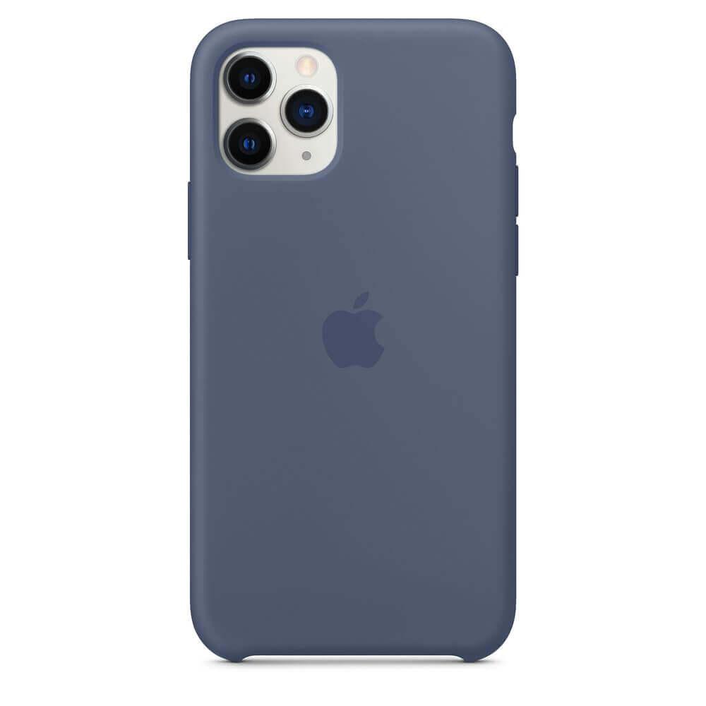 Apple Silicone Case — оригинален силиконов кейс за iPhone 11 Pro (син) - 2