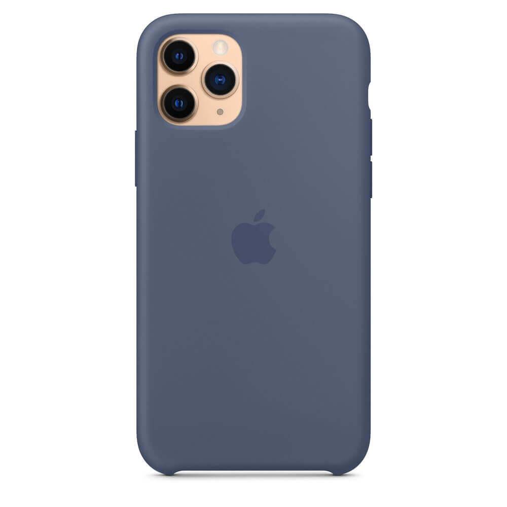 Apple Silicone Case — оригинален силиконов кейс за iPhone 11 Pro (син) - 4