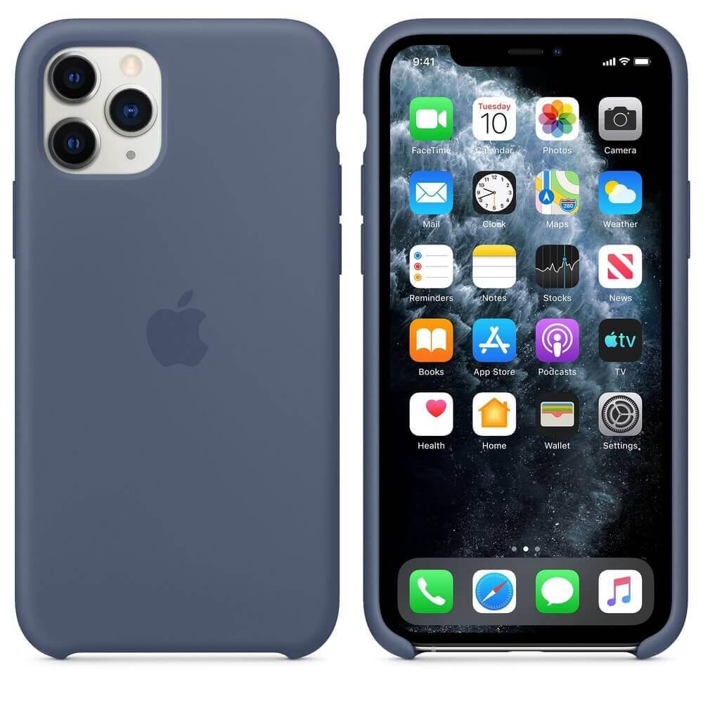 Apple Silicone Case — оригинален силиконов кейс за iPhone 11 Pro (син) - 1