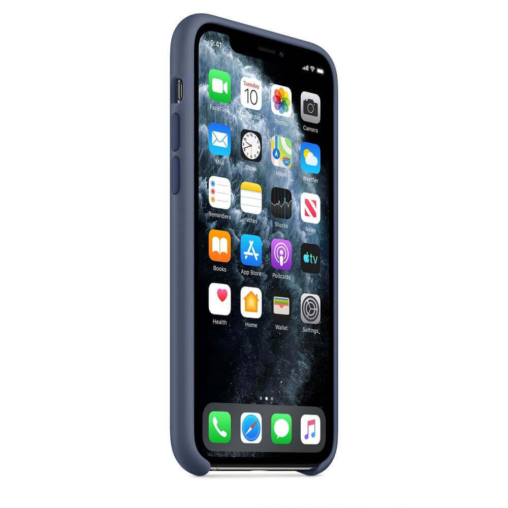 Apple Silicone Case — оригинален силиконов кейс за iPhone 11 Pro (син) - 5