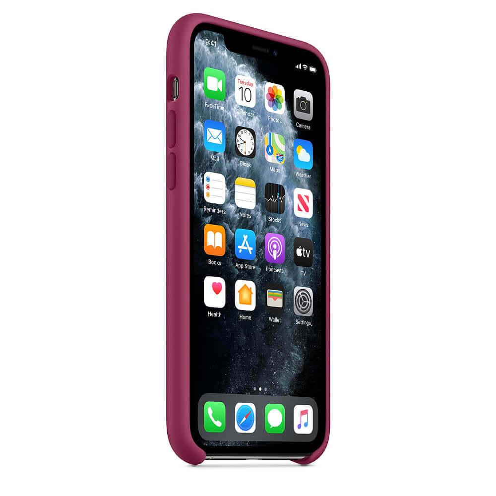 Apple Silicone Case — оригинален силиконов кейс за iPhone 11 Pro (светлочервен) - 4