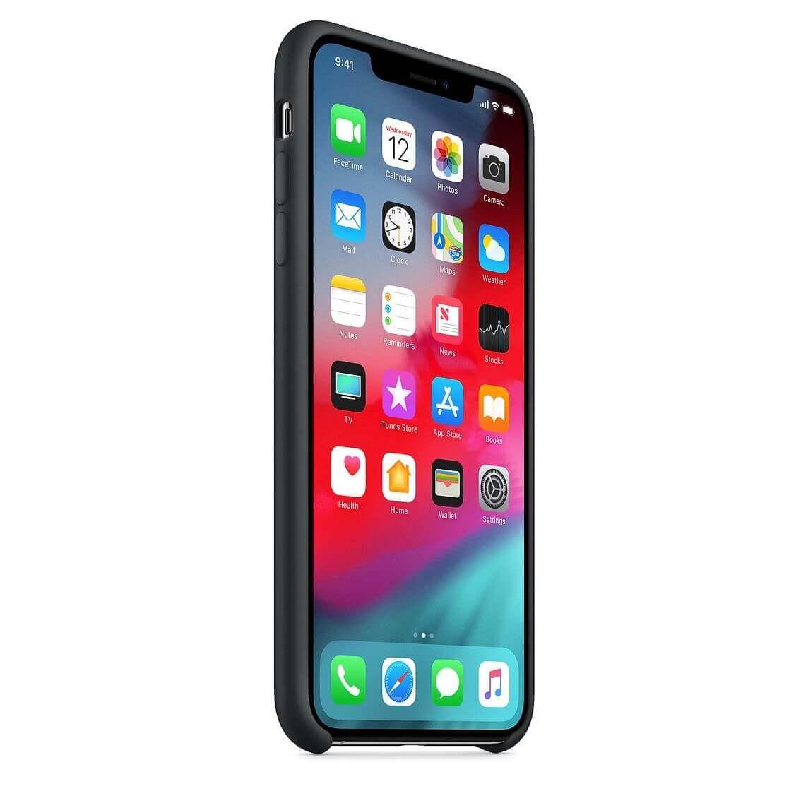 Apple Silicone Case — оригинален силиконов кейс за iPhone XS (черен) (bulk) - 4