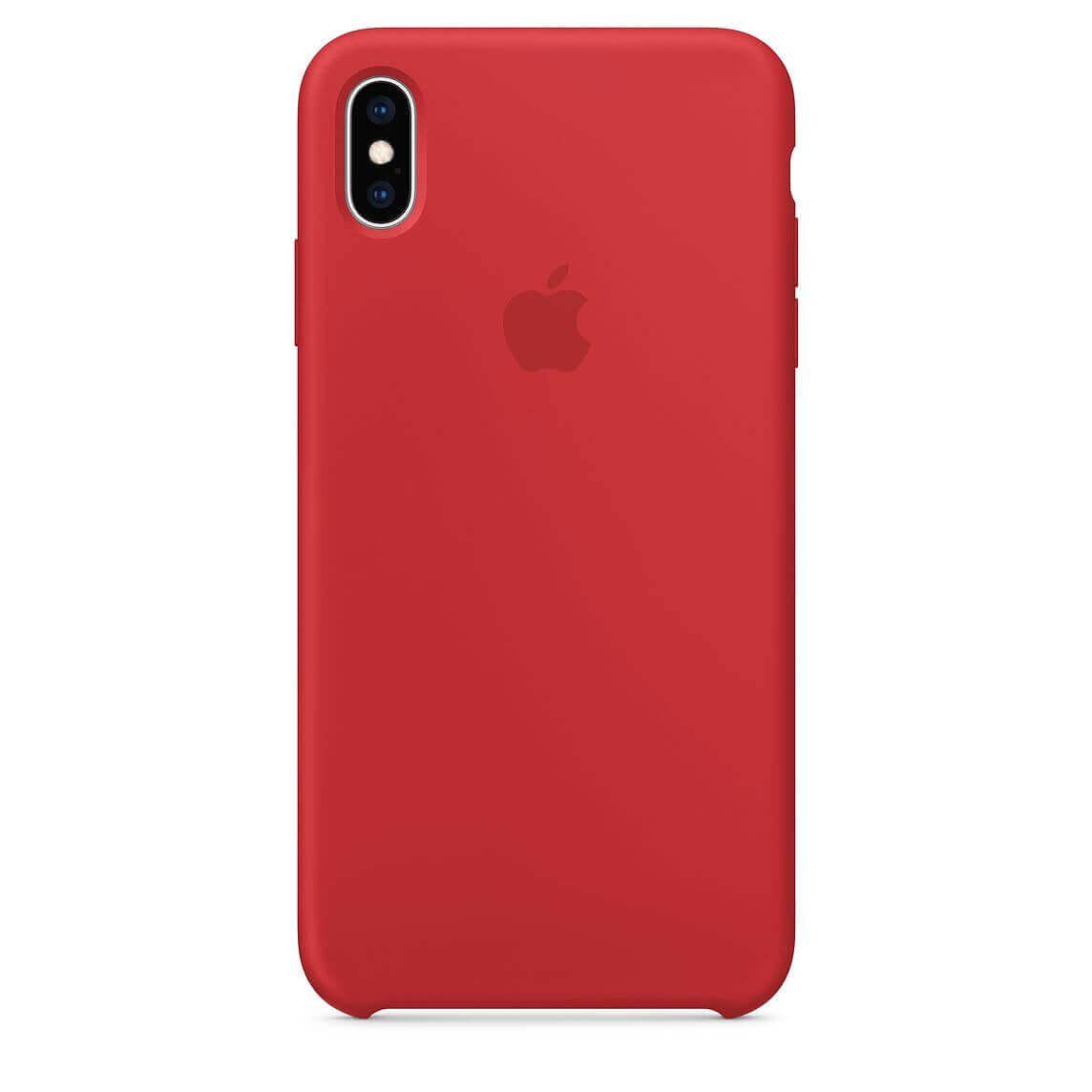 Apple Silicone Case — оригинален силиконов кейс за iPhone XS (червен) (bulk) - 1