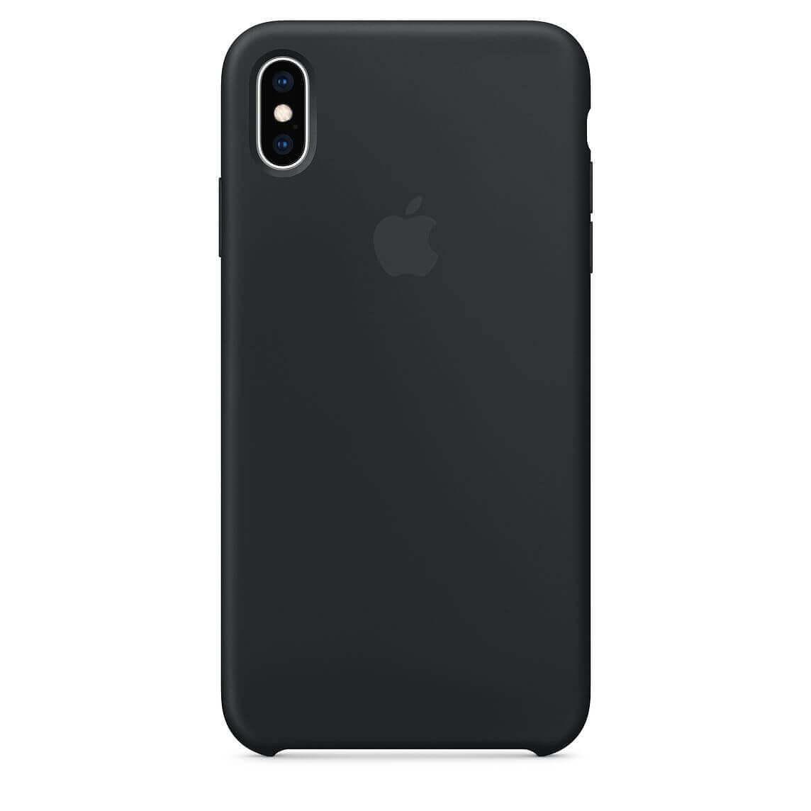 Apple Silicone Case — оригинален силиконов кейс за iPhone XS Max (черен) (bulk) - 1