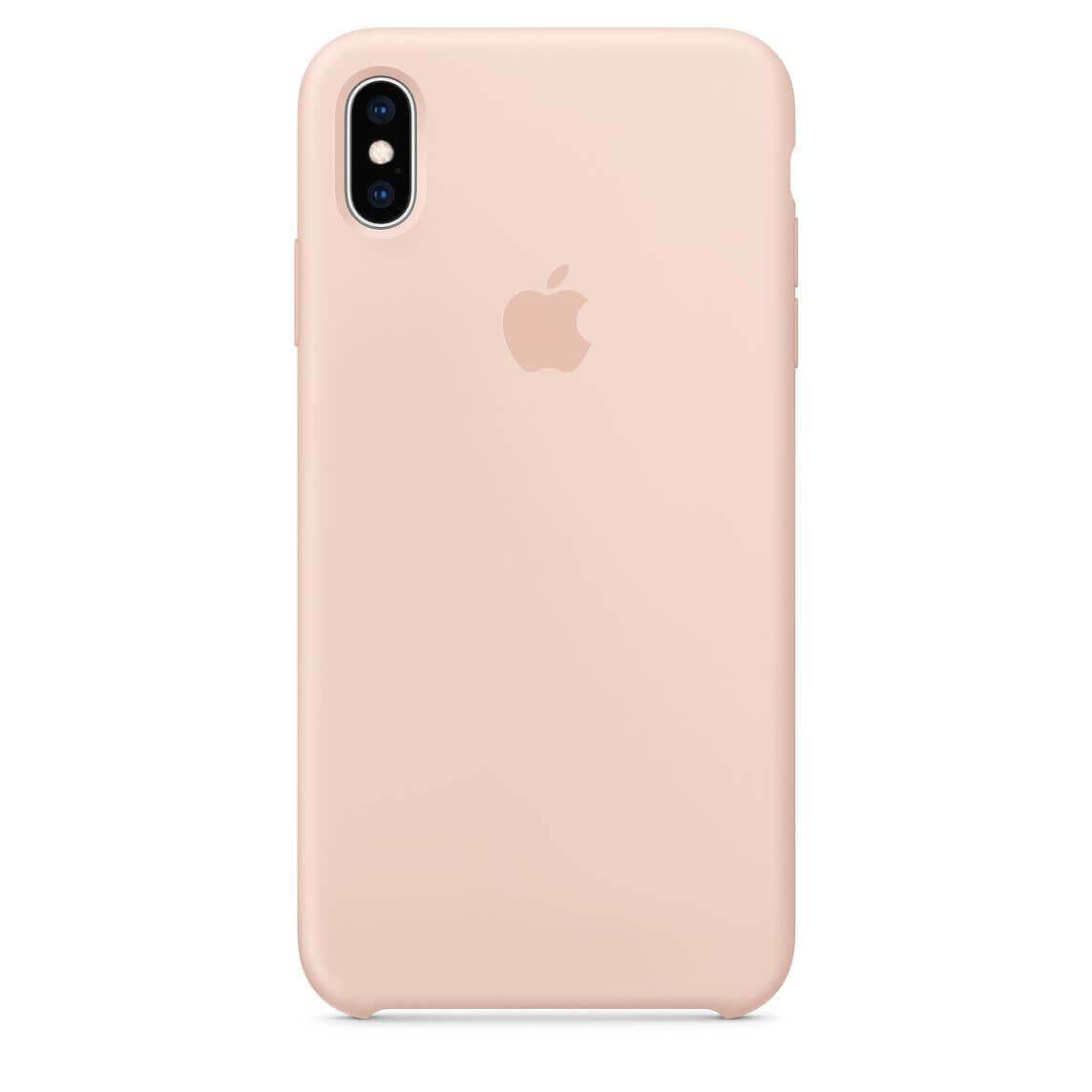 Apple Silicone Case — оригинален силиконов кейс за iPhone XS Max (розов пясък) (bulk) - 1