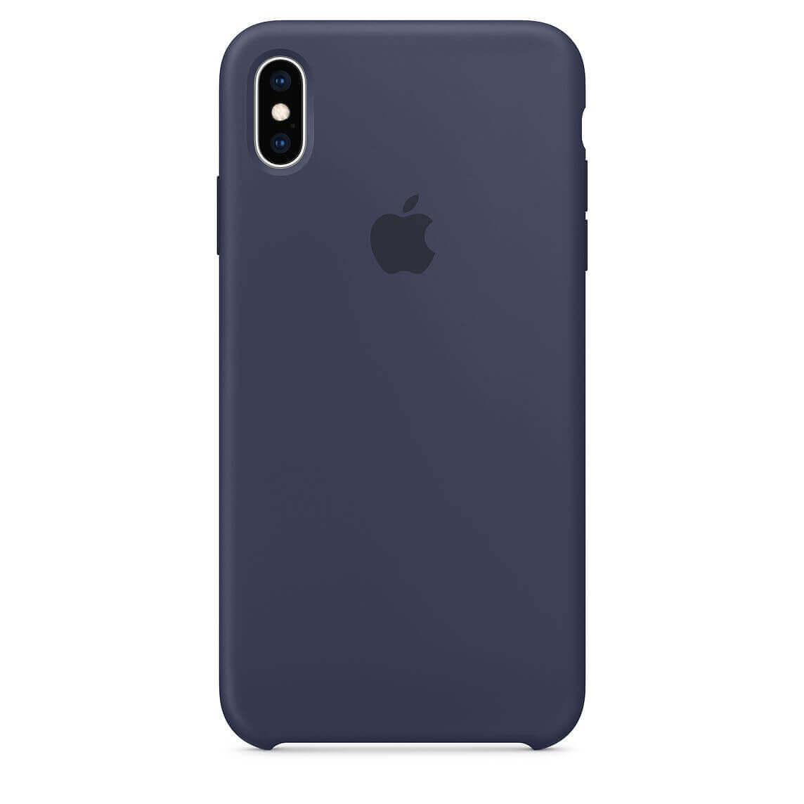Apple Silicone Case — оригинален силиконов кейс за iPhone XS Max (тъмносин) (bulk) - 1