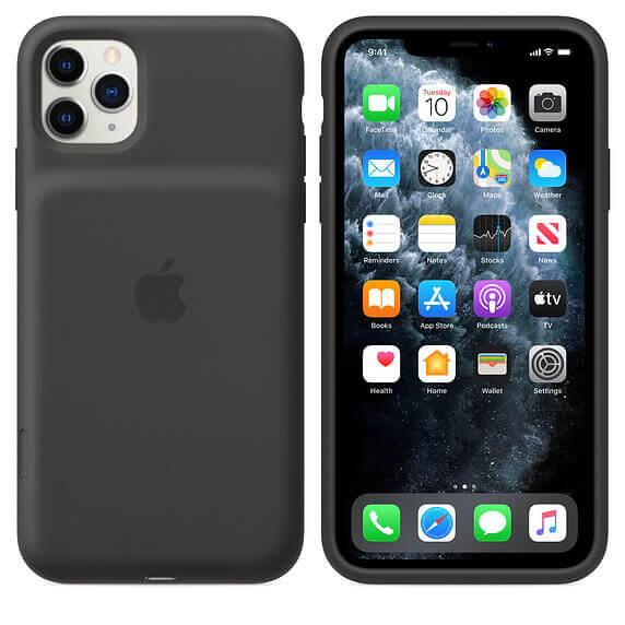 Apple Smart Battery Case — оригинален кейс с вградена батерия за iPhone 11 Pro (черен) - 1